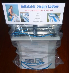 Inflatable dinghy ladder Packed ready to go