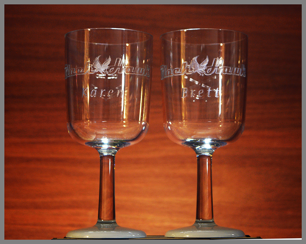 Engraved Unbreakable Wine glass 2 Pack