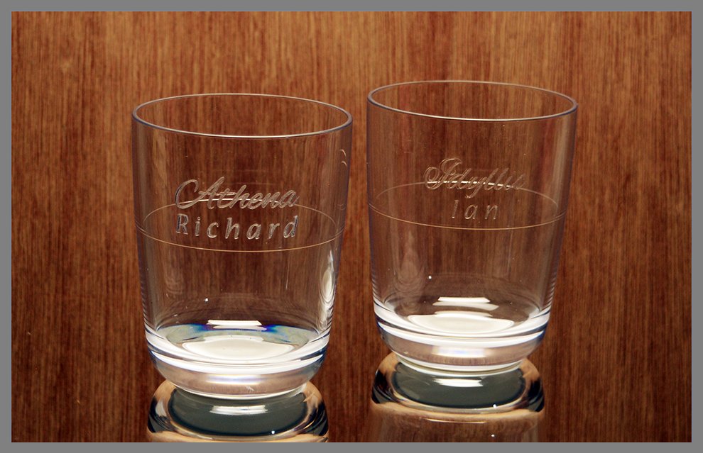 Engraved Unbreakable Whiskey glass 2 Pack