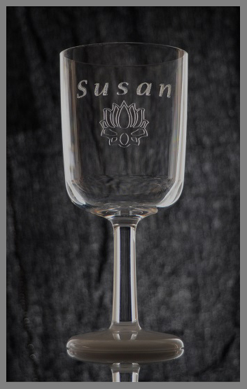 Engraved Unbreakable Wine glass single